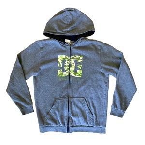 DC Boy's Large Gray Camo Sweatshirt Hoodie